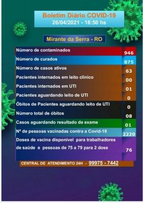 Boletim COVID-19 26