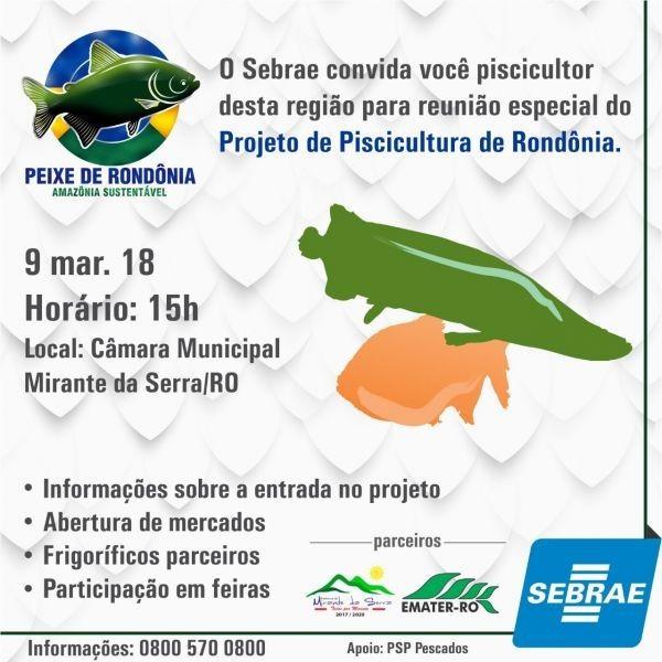 PROJETO SEBRAE da Cadeia produtiva da Piscicultura, apresentação do Frigorífico Peixe