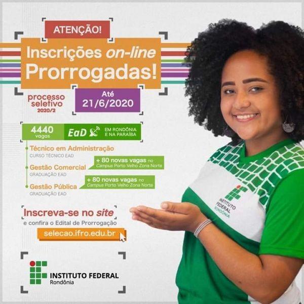 Secretaria Municipal de Educação de Mirante da Serra, vem a público informar a prorrogação das inscrições do curso do IFRO