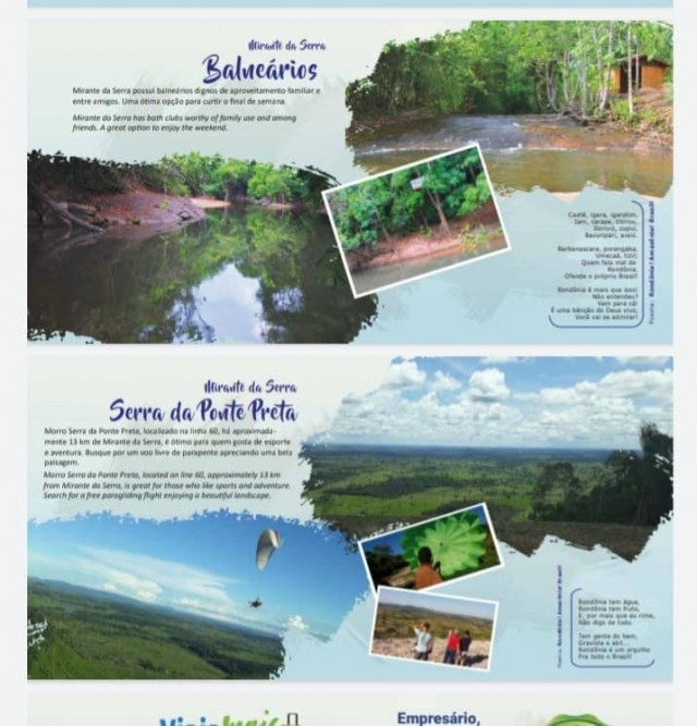 O Município de Mirante da Serra entrou na rota do turismo do Estado de Rondônia