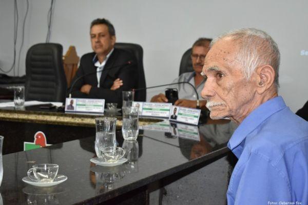 Câmara Realiza Moção de Aplauso para Pioneiro de Mirante da Serra